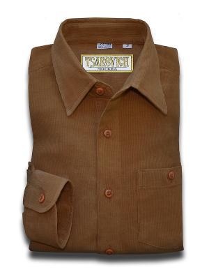 Рубашка Tsarevich. Цвет: коричневый