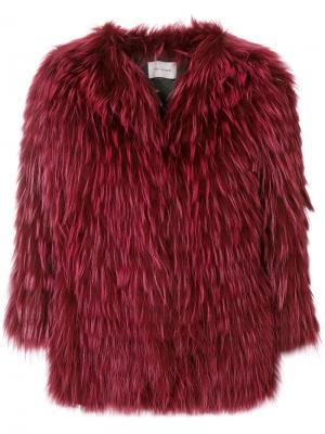 Куртка с потайной застежкой Yves Salomon. Цвет: красный