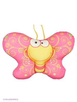 Декоративная подушка Бабочка Оранжевый кот. Цвет: розовый
