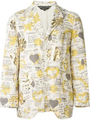 Пиджак с графическим принтом Comme Des Garçons Vintage. Цвет: телесный