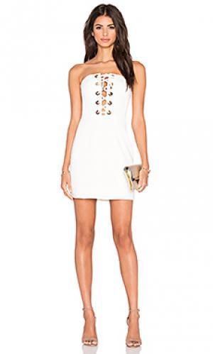 Платье dont stop NBD. Цвет: белый