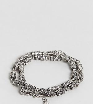 Reclaimed Vintage Серебристый браслет Inspired эксклюзивно для ASOS. Цвет: серебряный