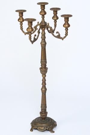 Канделябр на 5 свечей Stilars. Цвет: бронзовый