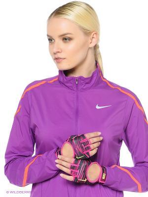 Перчатки спортивные Nike. Цвет: розовый