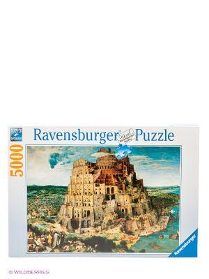 Пазл Брейгель. Вавилонская башня, 5000 элементов Ravensburger. Цвет: голубой