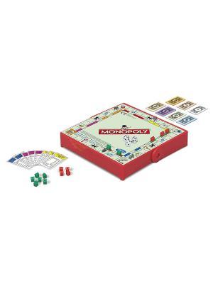Дорожная игра Монополия Hasbro. Цвет: белый, красный, золотистый, черный