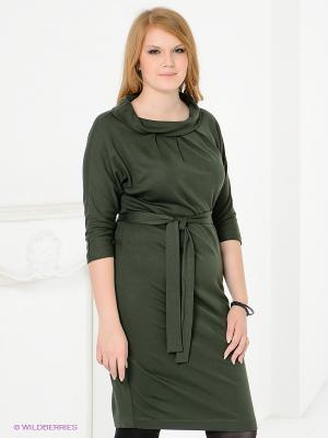 Платье Magnolica. Цвет: темно-зеленый