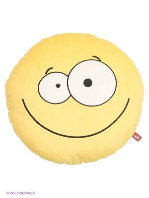Подушка Смайлик Fancy. Цвет: желтый