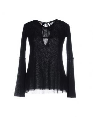 Блузка FUZZI. Цвет: черный