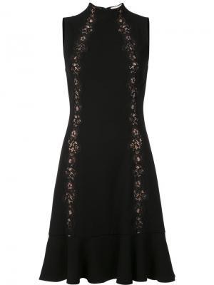 Lace detailing sleeveless dress Rebecca Taylor. Цвет: чёрный