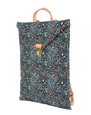 Рюкзаки и сумки на пояс MAISON BALUCHON. Цвет: цвет морской волны