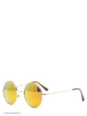Солнцезащитные очки Kawaii Factory. Цвет: темно-коричневый