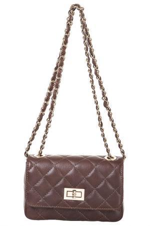 Клатч FLORENCE BAGS. Цвет: коричневый