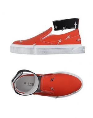 Низкие кеды и кроссовки GIENCHI. Цвет: оранжевый