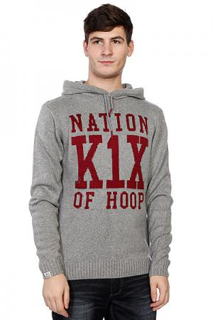 Свитер  Simple Type Knit Hoody K1X. Цвет: серый