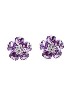 Серьги Kameo-bis. Цвет: фиолетовый, белый, серебристый