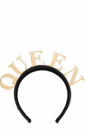 Текстильный ободок с декором Dolce & Gabbana. Цвет: золотой
