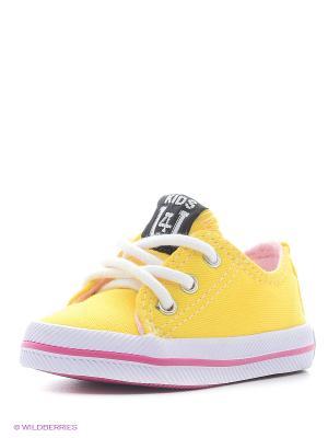 Кеды 4U. Цвет: горчичный, светло-желтый