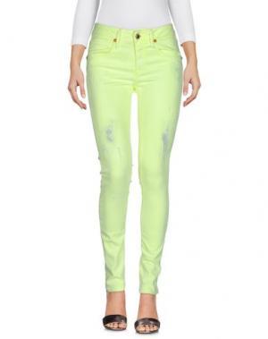 Джинсовые брюки AB/SOUL. Цвет: кислотно-зеленый