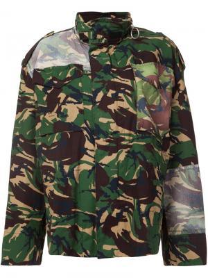 Куртка с камуфляжным принтом Off-White. Цвет: зелёный