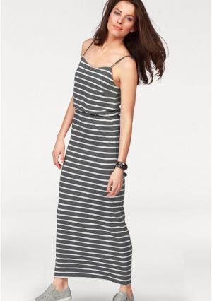 Платье макси Aniston. Цвет: хаки/белый в полоску