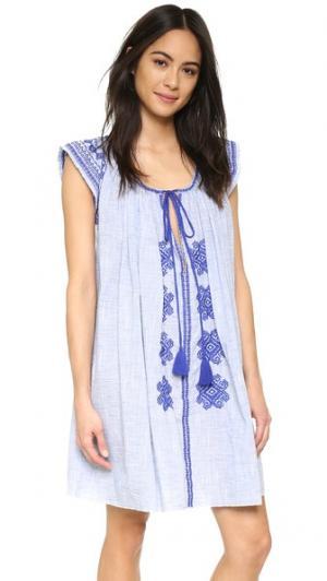 Платье Bolshoi Christophe Sauvat Collection. Цвет: голубой шамбре