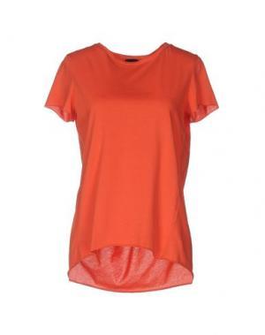 Футболка GOTHA. Цвет: оранжевый