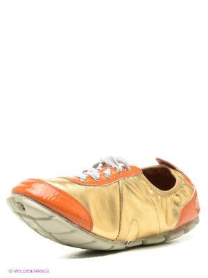Кроссовки El Tempo. Цвет: оранжевый, золотистый