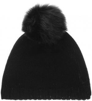 Шерстяная вязаная шапка с помпоном CANADIAN. Цвет: черный