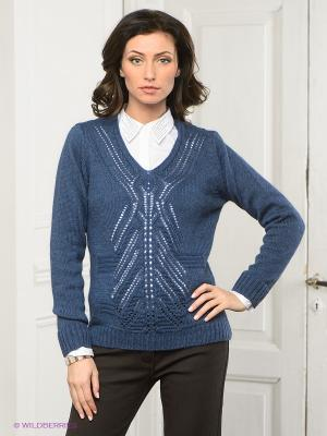 Пуловер DRS Deerose. Цвет: синий
