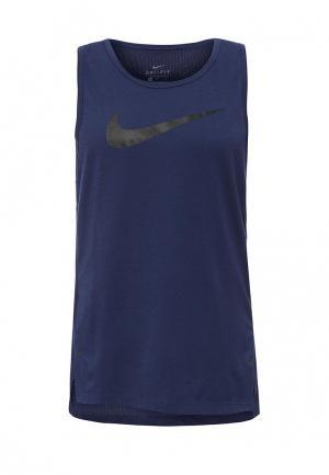 Майка спортивная Nike. Цвет: синий