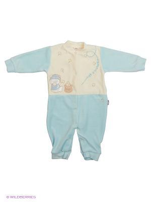 Комбинезон Babycollection. Цвет: голубой, бежевый