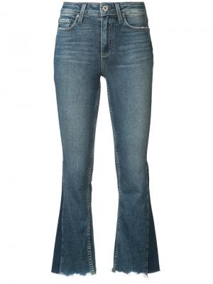 Расклешенные укороченные джинсы Paige. Цвет: синий