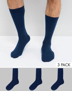 CR7 3 пары носков Cristiano Ronaldo. Цвет: темно-синий