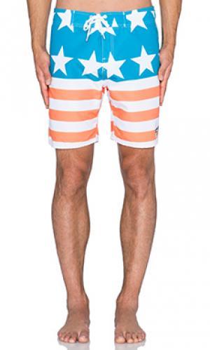 Плавательные шорты rocko Ambsn. Цвет: синий