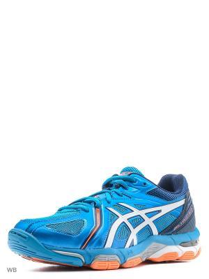 Спортивная обувь GEL-VOLLEY ELITE 3 ASICS. Цвет: синий, белый, оранжевый
