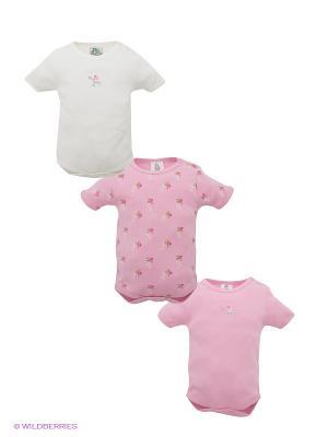 Боди, 3 шт. FS Confeccoes. Цвет: розовый, белый