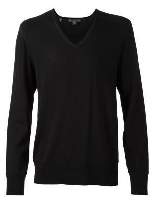 Повседневый свитер John Varvatos. Цвет: чёрный