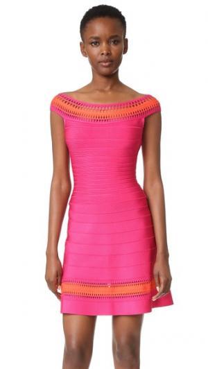 Платье Zoe Herve Leger. Цвет: ярко-розовый