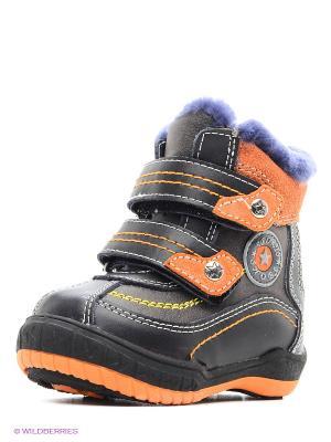 Ботинки на меху KENKA. Цвет: черный, серый