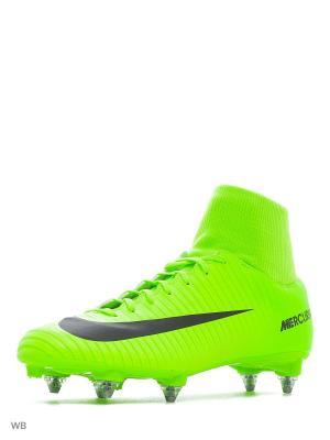Бутсы MERCURIAL VICTORY VI DF SG Nike. Цвет: зеленый, салатовый
