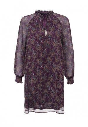 Платье oodji. Цвет: фиолетовый