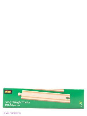 BRIO Ж/д полотно, прямое, длина 21,6см, 4 дет.в наб.. Цвет: прозрачный