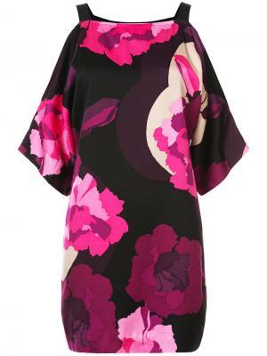Платье с цветочным принтом Trina Turk. Цвет: розовый и фиолетовый