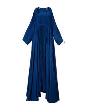 Длинное платье FRANCESCA PICCINI. Цвет: цвет морской волны