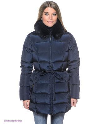 Пальто Finn Flare. Цвет: темно-синий