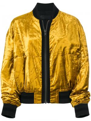 Куртка-бомбер с мятым эффектом Haider Ackermann. Цвет: жёлтый и оранжевый