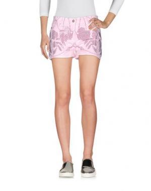 Джинсовые шорты VDP COLLECTION. Цвет: розовый