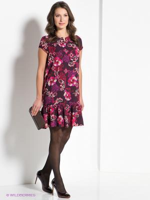 Платье AKIMBO. Цвет: бордовый, фиолетовый, розовый