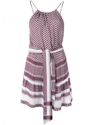 Strappy belted dress Cecilie Copenhagen. Цвет: красный